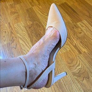 Calvin Klein Betty matte snake dress heels 8M